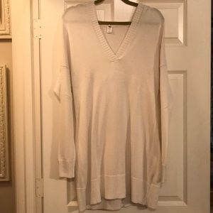 Maternity Cream Sweater with Hoodie. Large